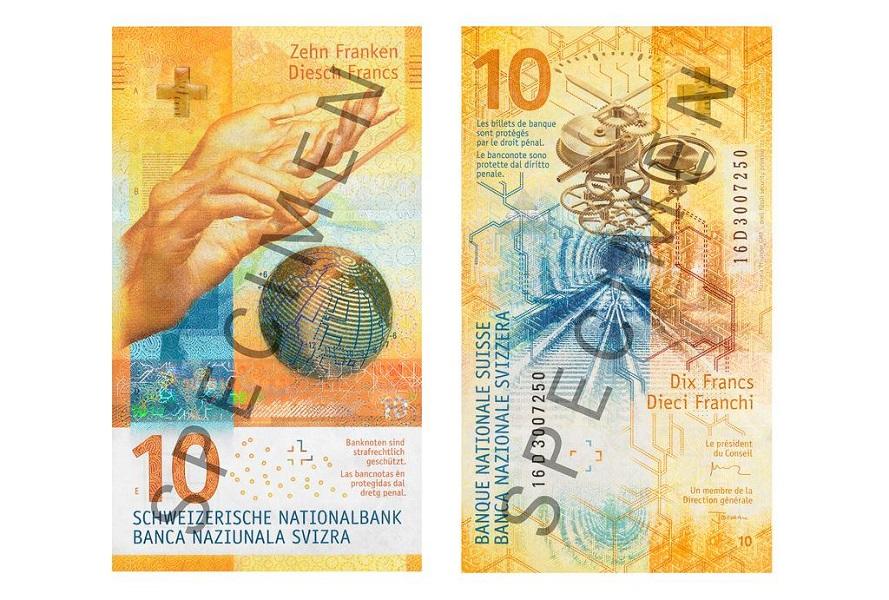 Новые 10-франковые купюры появятся 18 октября Le nouveau billet de 10 francs  sortira le 18 octobre a7af8ffd303