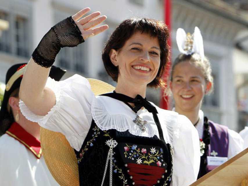 Дорис Лойтхард на национальном празднике