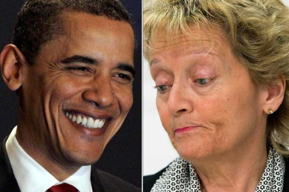 Президент США Барак Обама и министр финансов Конфедерации Эвелин Видмер-Шлумпф