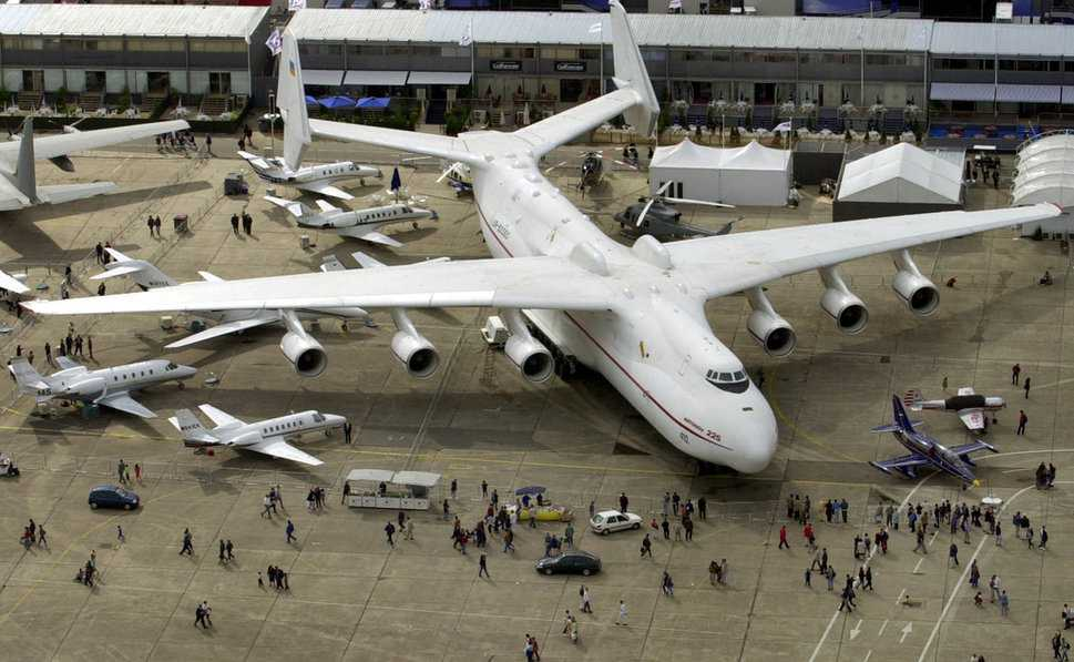 «Мрия» на авиасалоне Бурже в 2001 году
