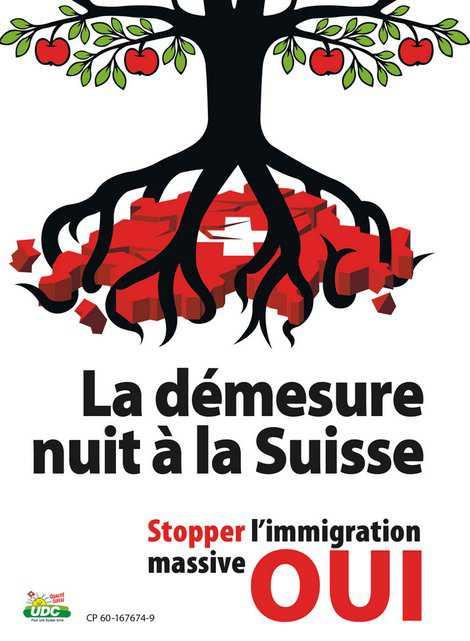 Отсутствие чувства меры губит Швейцарию (плакат UDC