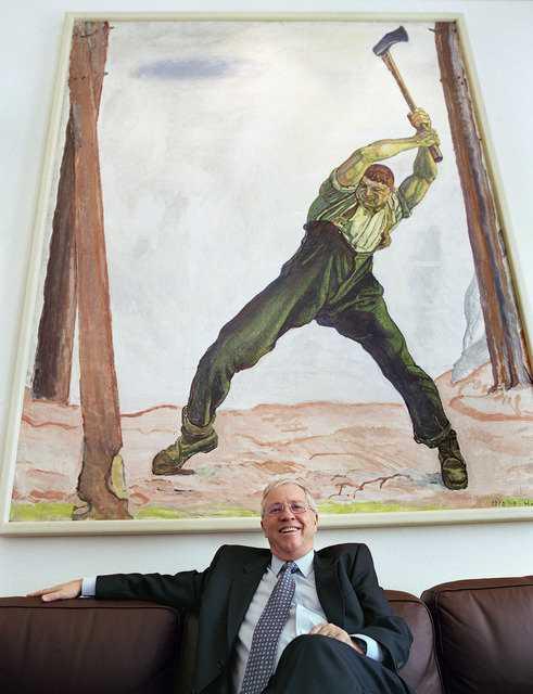 Кристоф Блохер в рабочем кабинете