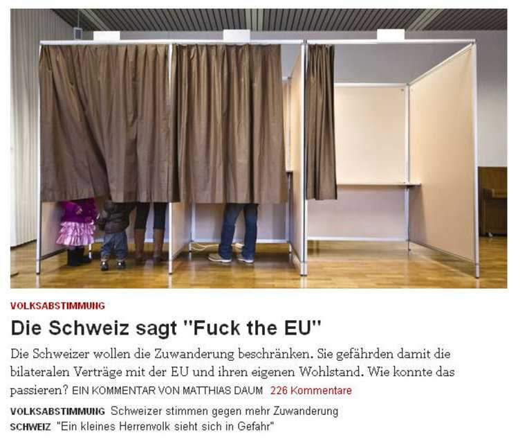 Скриншот немецкоязычного сайта Zeit Online