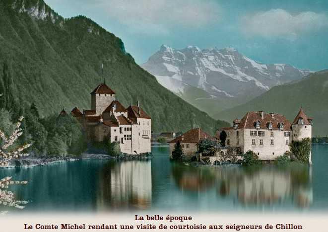 Граф Мишель из Грюйера пришел в гости к савойским герцогам из Шильона