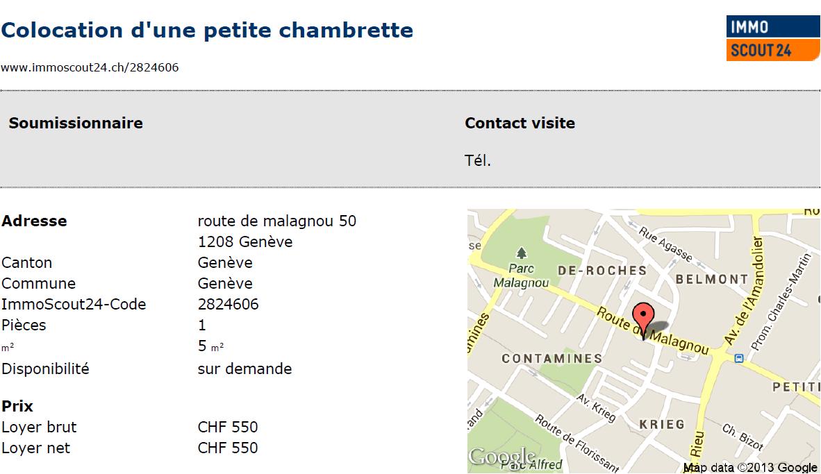 Где в Женеве найти 5-метровые комнаты?