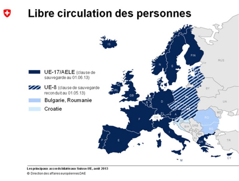 Не все члены ЕС имеют равные права на работу в Швейцарии