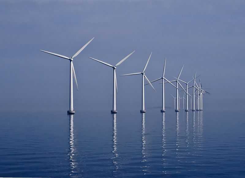 Ветряная электростанция около Копенгагена
