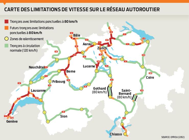 Красным выделены участки, где уже существуют ограничения; оранжевым - снижение лимита планируется