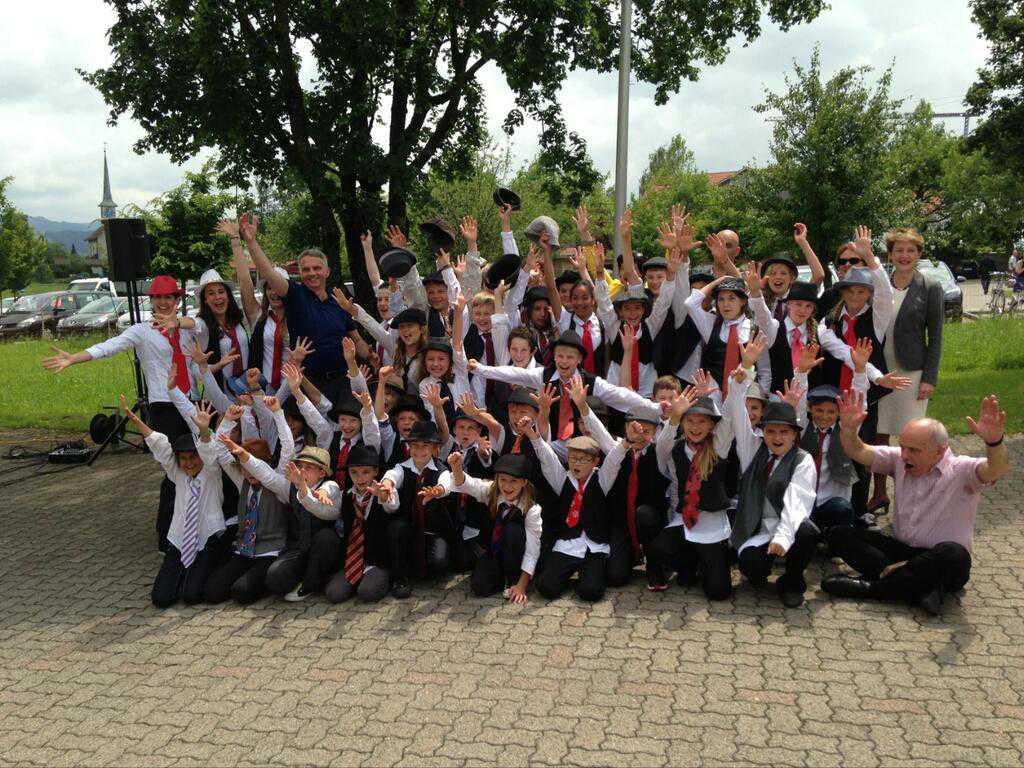 С музыкальным коллективом в Зеегребен