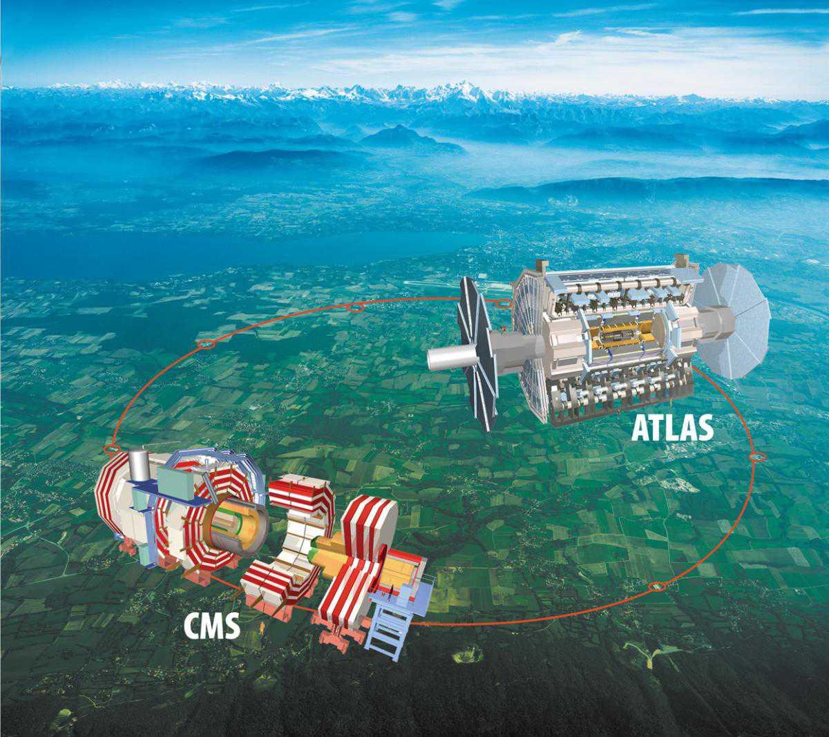 ATLAS и CMS на карте региона