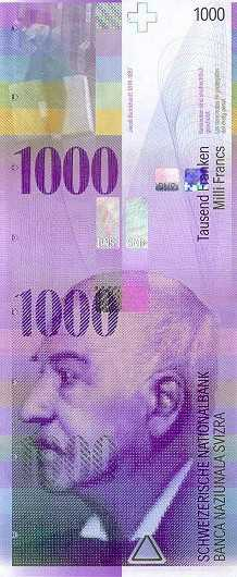 1000 франков - настоящие?