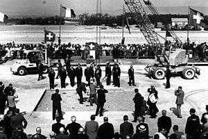 1946 год - заложен первый камень