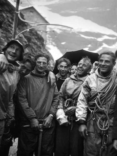 Генрих Харрер, Андерл Хекмайер, Людвиг Форг и Фриц Каспарек. 24 июля 1938г.